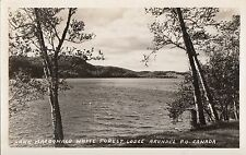 Lake Macdonald from White Forest Lodge ARUNDEL Quebec 1940-50 © E. Comellas RPPC