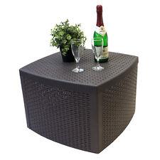 Beistelltisch Gartentisch Loungetisch 53x53xH40cm Rattan-Optik Kunststoff Mokka