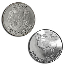 Aegon I Targaryen, Game of Thrones Coin, .999 pure silver stag, 1/10 troy ounce