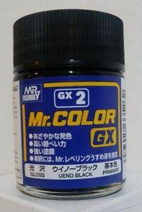 Gunze Sangyo Mr Color GX-2, Gloss Black 18ml.
