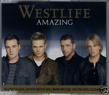 WESTLIFE - AMAZING / MISS YOU WHEN I'M DREAMING 2006 EU CD SINGLE RCA