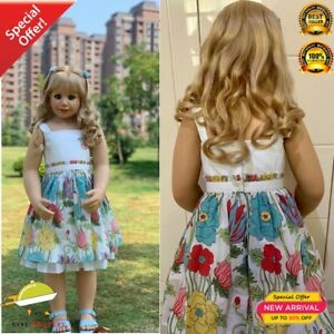 100CM Hard vinyl toddler princess girl doll toy like real 3-year-old size child