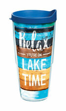 Tervis  24 oz. Relax Lake Time  Tumbler  Clear