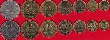 Tajikistan set of 7 coins: 1 diram - 1 somoni 2011 UNC