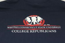 College Republicans Western CT State University blue XL t shirt UNWORN