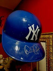 NYC New York Yankees Derek Jeter Signed Autographed FullSize Baseball Helmet COA
