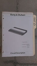Bang & Olufsen beogram 3300 cd circuit description service manual stereo player