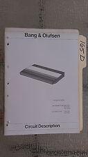 Bang & Olufsen beogram 3300 cd circuit description service manual stereo player