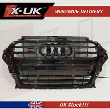 FRONT GRILL FULL GLOSS BLACK FOR AUDI A3 8V TO S3 2012- 2015