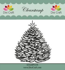Dixi Christmas Clear Stamps - Star Tree 6.6cm x 8cm
