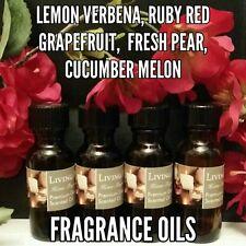 Assorted Spa Scented Fragrance Burning Oils Set of 4 1/2oz