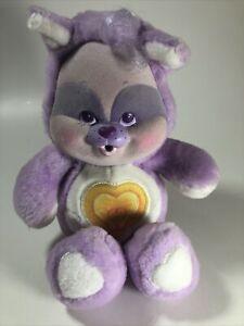 Vintage 1986 Kenner Care Bears Cousins Cubs Li'l Bright Heart Flocked Cute