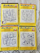 Aunt Martha's Hot Iron Transfers Lot of 4 Kittens Day of The Week Embroidery CS