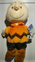 Peanuts Charlie Brown Kohls Cares 12'' Plush Doll Stuffed Animal Toy NWT orange