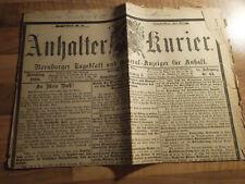 Anhalter Kurier #63 - 14.03.1888 Kaiser Friedrich III. Wilhelm II Dreikaiserjahr