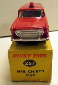 Dinky Toys, 257 Nash Rambler Fire Chief's Car,     original