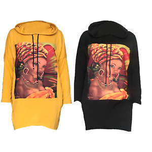 Women hoodie sweatshirt long pullover Long Sleeve print jumper cotton sweater s