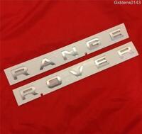 NEW RANGE ROVER VOGUE BONNET BADGE DECAL *SILVER* GENUINE PART
