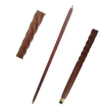 BROWN Wood/ Brass Vintage Walking Stick Only For Cane Handle (Only wooden shaft)