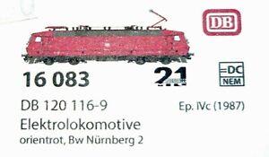 L.S.Models 16083, Ellok 120 116-9 der DB, Bw Nbg.2, Epoche IV, H0, NEU&OVP