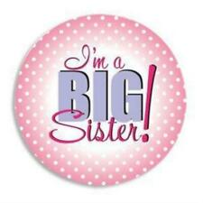 I'M A Big Sister Button Pin ~ New Baby Gift ~ Birth Announcement Pins Keepsake