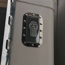 Stainless Kenworth Bunk Vent Surrounds (Dimple)