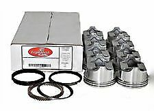 "SBC Pistons & moly Rings Set (8) 030;4.030"" Bore Flat Top For Chevy 350"