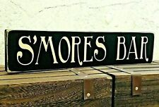 S'mores Bar Sign Wedding Sweet Table Large Wooden Table Decoration Shabby