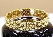 14KT. Yellow Gold Bracelet Double X Kisses Italian Made FIne Jewelry