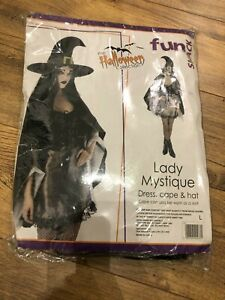 ADULT WOMENS LADY MYSTIQUE WITCH FANCY DRESS COSTUME - X-SMALL 4-6
