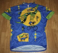 Women's Cycling Jersey Short-sleeved Quick Dry Bike Bicycle Shirt Riding Size L