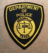 TX Greenville Texas Police Patch