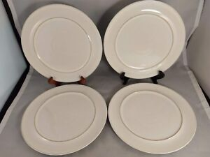 """Set of 4 Denby Potpourri White 9 1/4"""" Accent Lunch Luncheon Plates"""