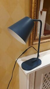 Sainsbury's Home Angled Desk Light Lamp in Blue Colour & Very Good Condition