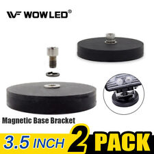 2 x Magnet Base Mount Bracket with Rubber Pad For LED Work Light LED Light Bar