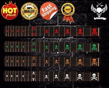 SKULL HEAD Electric Guitar Fretboard Inlay Stickers Fret Markers Decals (11 PCS)