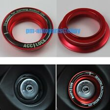 PM Red Aluminum Ignition Engine Start Key Ring Trim New for Kuga Escape Focus
