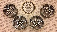 """* GENUINE STAGGERED 19"""" MERCEDES C63 AMG W205 C CLASS ALLOY WHEEL RIMS + TPM **"""