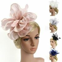 Flower Feather Fascinator Headband Hair Accessories Ladies Race Royal Ascot UK