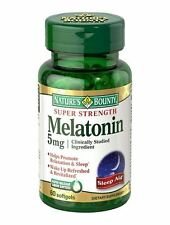Nature's Bounty Melatonin 5 mg Softgels 60 Soft Gels
