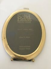VINTAGE BRASS PHOTO FRAME Oval New Wall Hanging Decor