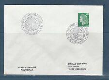 FRd  enveloppe Fleurs salon international du Dahlia 36 Chateauroux    1972