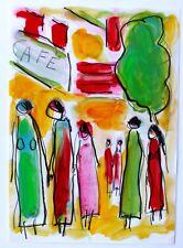 CAFÉ  FAMILLE  modern art oil painting