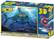 "Jigsaw 3D Puzzle Discovery Shark Week 24"" by 18"" 500 Piece - Facing You Shark"