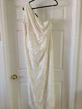 Nine West lace dress 16 one shoulder off white