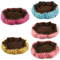 CA Cute Pet Dog Puppy Cat Soft Flannel Warm Bed House Plush Nest Mat Pad Kennel