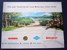 RARE! 1958 NUFFIELD MORRIS- MG- RILEY- WOLSELEY Original Sales Brochure/ Poster