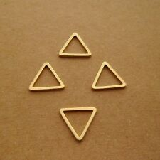 100pcs HOT Abstract Triangle Geometric Raw Brass Pendants Charms Links 12mm