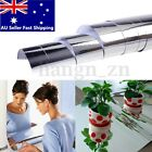 60x100cm DIY Self Adhesive Foil Mirror Decals High Gloss Home Room Wall Stickers