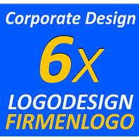 6x Designsvorschläge Entwurf Firmenlogo Vektorgrafik Dienstleistung Layout Logo